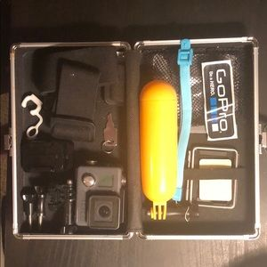 GoPro Hero with attachments and carrying case